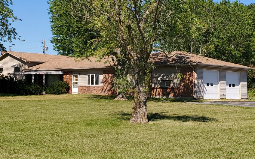 10+ Acres; 2500 Sq Ft Tri-Level; Oversize Garage, Pole Barn. All this and the List price is $34,500 under County Assessment.